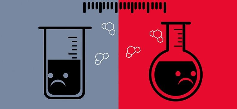 реакция двух веществ